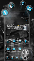 screenshot of Black BMW Theme