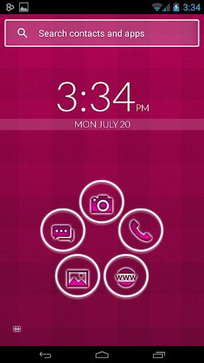 Smart Launcher Pink Neon