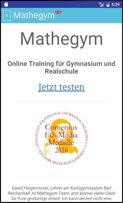 Mathegym | Aufgaben+Videos- screenshot