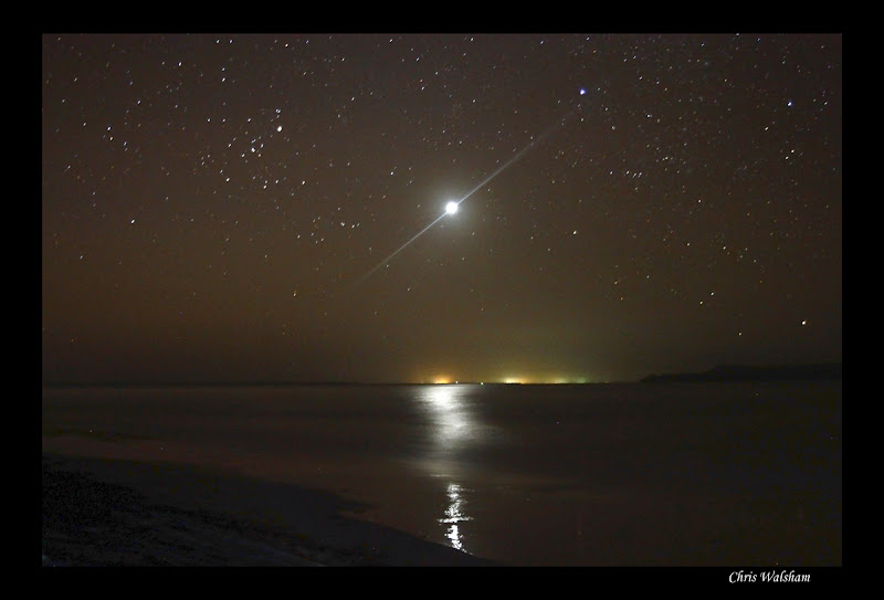 Photo: Venus over Hevey Bay, from Inskip Point, QLD, Aust