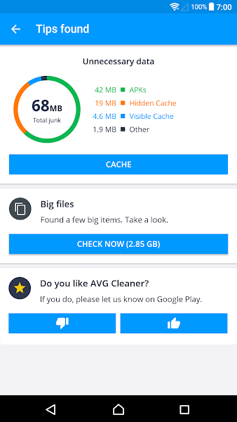 AVG Cleaner PRO Screenshot Image