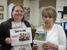 Holly Lucas and Janie with Bible School Material