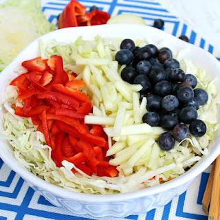 Red, White, & Blue Slaw Salad