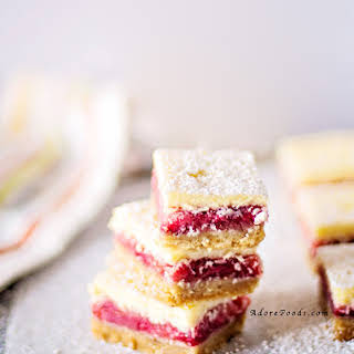 Strawberry and Rhubarb Bars.