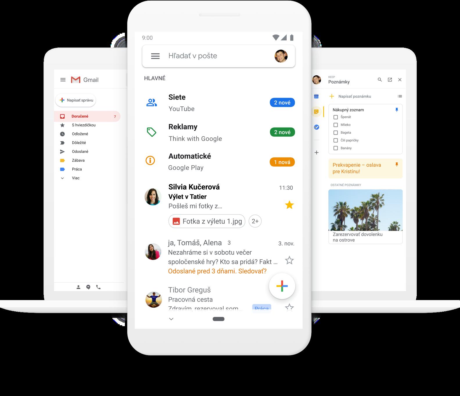 Gmail - bezplatné úložisko a e‑mail od Googlu