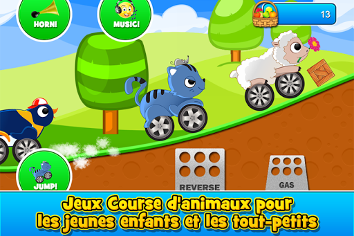 Animal Cars Kids Racing Game  captures d'écran 1