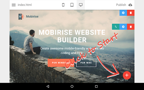 Mobirise Website Builder- screenshot thumbnail
