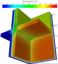 Photo: Validation of AnTherm according to EN ISO 10211:2007 Validation Case 3