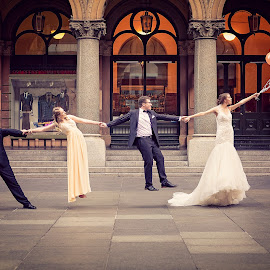 Carried Away by Adam Beniston - Wedding Groups ( bride, groom, carriedaway, bridalparty, wedding, steps )