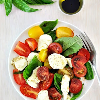 Classic Caprese Salad with Bocconcini.