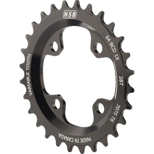 North Shore Billet Variable Tooth Chainring: 28T Standard 64 BCD