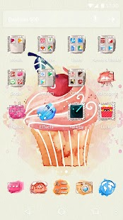 Cartoon Cupcake Theme - náhled