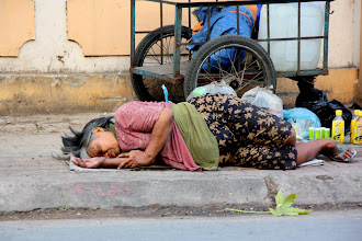 Photo: Year 2 Day 29 - Tramp Asleep on the Way out of Saigon