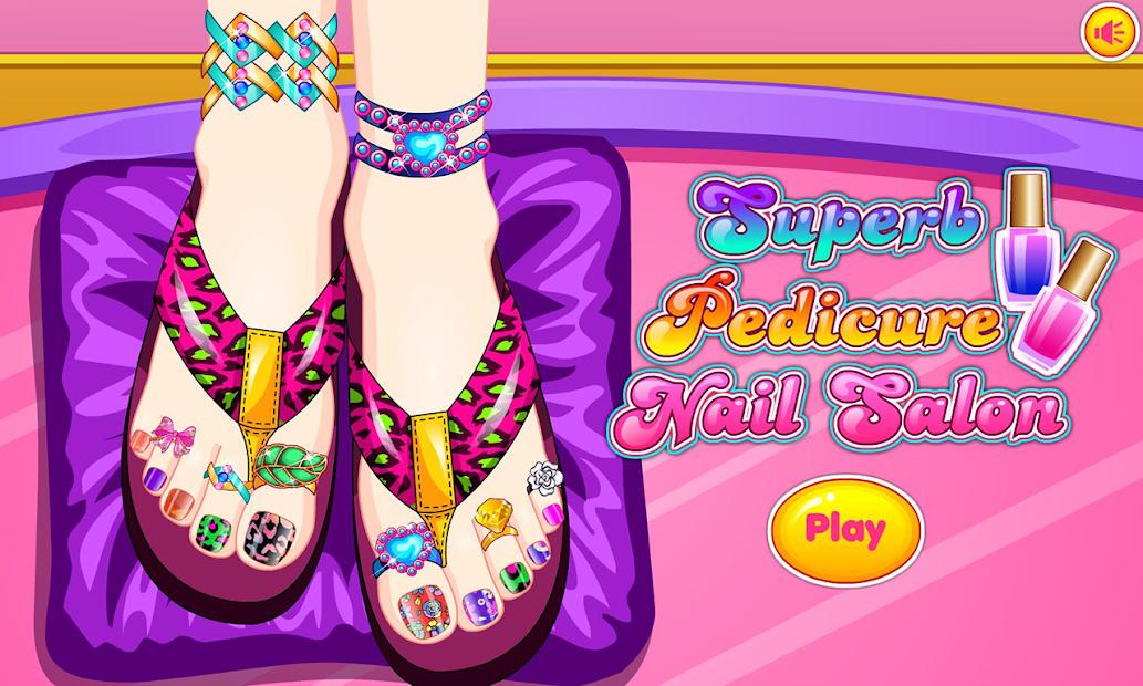 Beautiful pedicure nail salon Android App Screenshot