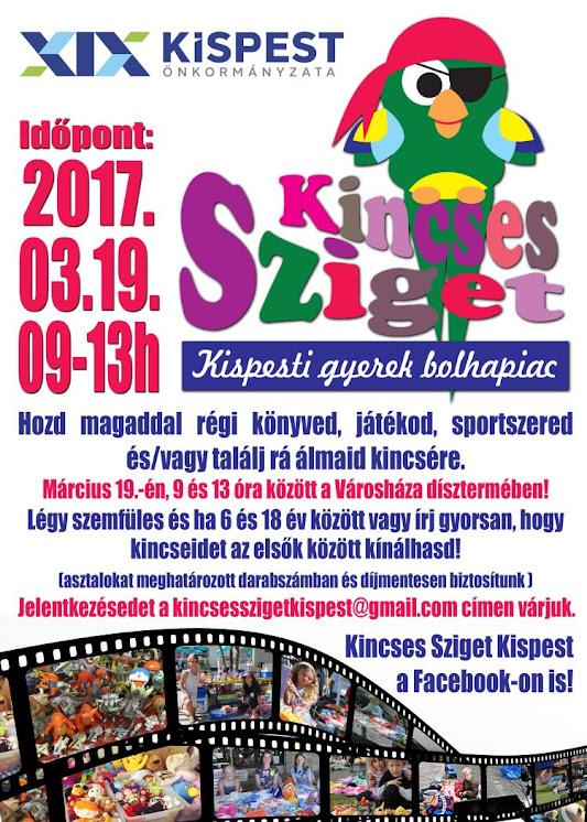 Kincses Sziget – Kispesti gyerek bolhapiac 2017. márciusban