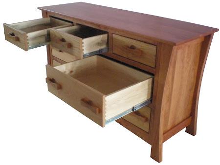 Zen Horizontal Dresser in Natural Cherry and Hard Maple