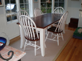 72 x 32 Pennsylvania Table and Missouri Chairs in Chocolate Cherry and Whitewash Oak