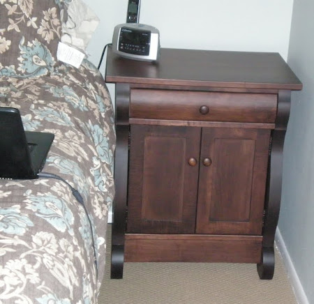 50 x 50 Classic Nightstand with Doors, in Onyx Maple