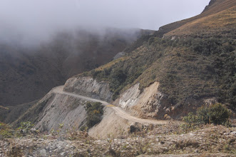 Photo: After Paucartambo the road starts descending into the wetter eastern slopes of the Andes.