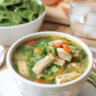 Chicken Vegetable Soup with Spinach – Gluten Free