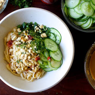Takeout-Style Sesame Noodles with Cucumber.