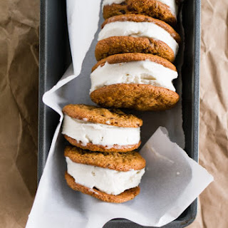 Chocolate Chip Ice Cream Sandwiches with Honey Olive Oil Ice Cream