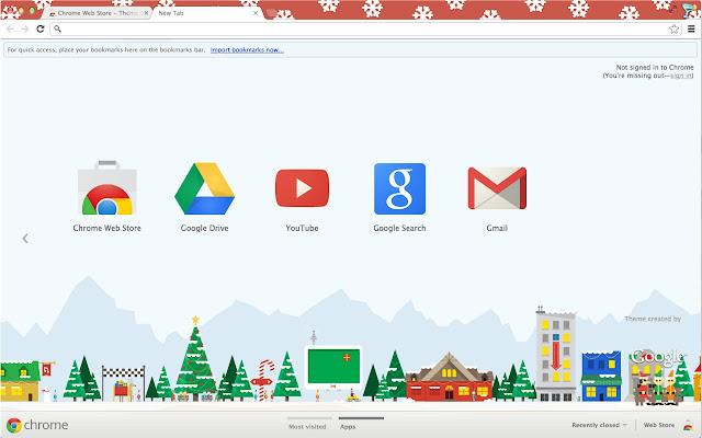 Google Santa Tracker 2012 Theme