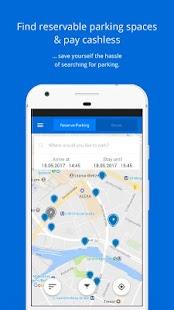 Parking with parking app ParkU screenshot