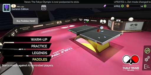Table Tennis ReCrafted! android2mod screenshots 1