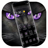 Black Evil Cat Dark Theme