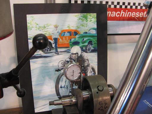 Bill Carbu était présent sur le stand de Machines et Moteurs au salon Moto Légende.