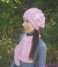 Photo: женский вязаный комплект шапка и шарф Карамель