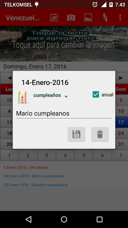 Venezuela Calendario 2017- screenshot