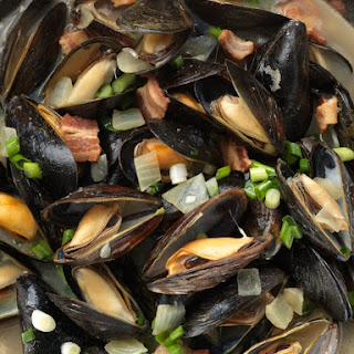 Bacon Beer Mussels