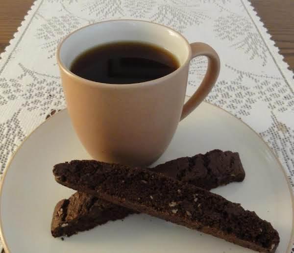 Chocolate Chocolate Chip Biscotti