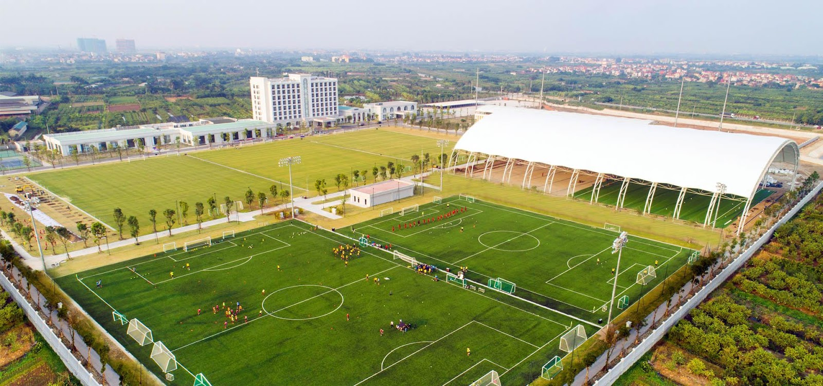 Training fields in Vietnam