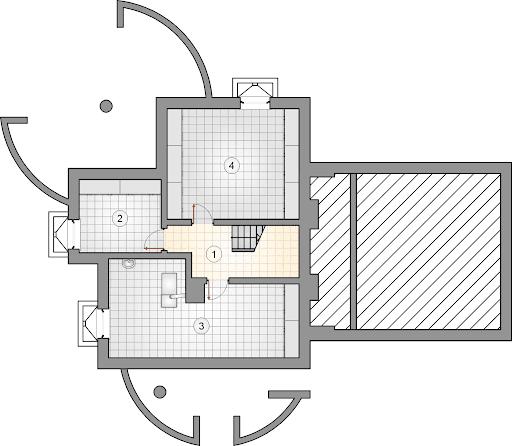 Agawa IV SP - Rzut piwnicy