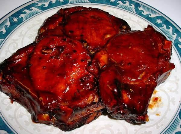 Plum Sauced Pork Steaks