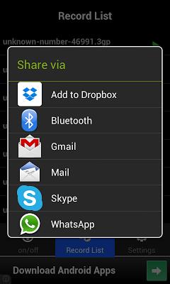 Snap Call Recorder - screenshot