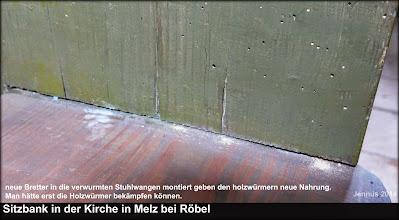 Photo: Holzwürmer erhalten neue Nahrung  KIRCHENGEMEINDE  Kieve-Wredenhagen  Dorfstr. 37 DE-17209 Wredenhagen Telefon: 039925/2540  Fax: 039925/2541  E-Mail: kieve-wredenhagen@elkm.de