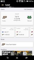 Screenshot of PurdueSports.com Gameday LIVE