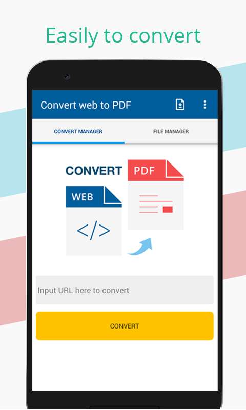 Convert web to PDF- screenshot