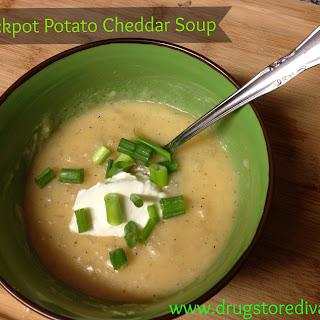Crock Pot Potato Cheddar Soup.