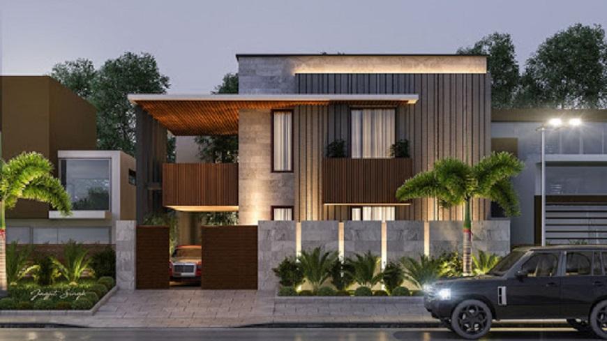 Thiết kế biệt thự 2 tầng đơn giản