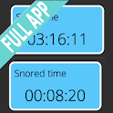 Simple snore counter | Full | Snore facts & alarm icon
