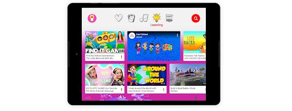 """La sezione """"di apprendimento"""" di un'esperienza con il tablet adatta ai bambini"""