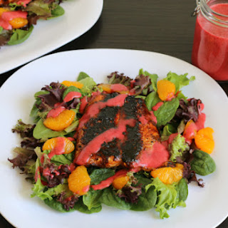 Blackened Salmon Salad with Huckleberry Vinaigrette {Gluten-free}