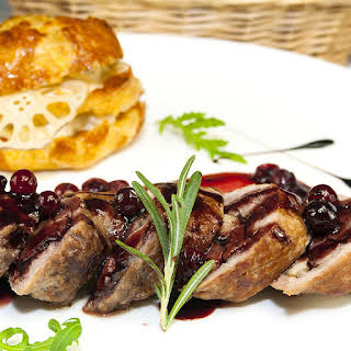 Cranberry-Glazed Turkey Breast Cutlets.