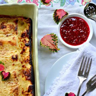 Easy Cheese Blintz Casserole Souffle