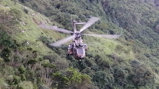 Man airlifted to safety by military helicopter after falling down KZN cliff